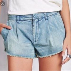 Free People slouchy denim cut off shorts, 25